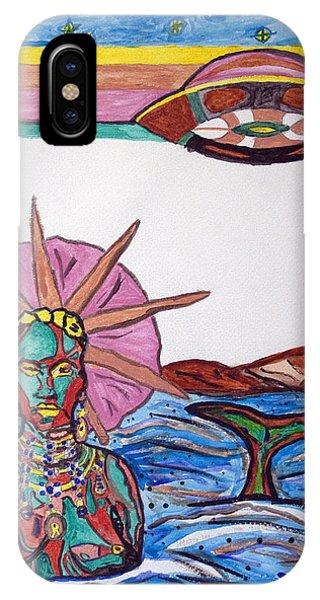 Voodoo iPhone Case - Yemoja Ufo  by Stormm Bradshaw