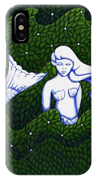 Mermaid At The Garden IPhone Case