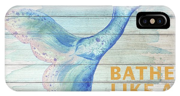 Mermaid iPhone Case - Mermaid Bath I by Elizabeth Medley