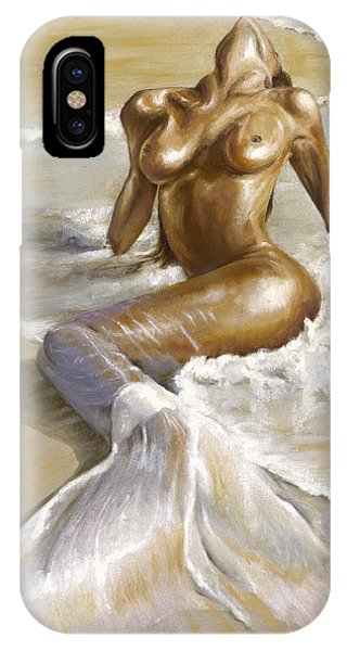 Nudes iPhone X Case - Mermaid by Karina Llergo