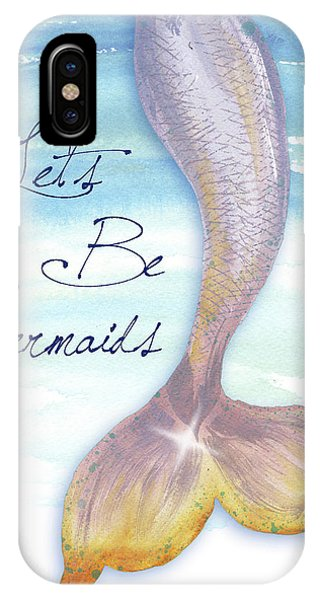 Mermaid iPhone Case - Mermaid Tail II by Elizabeth Medley