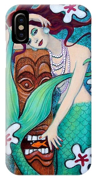 Mermaid's Tiki God IPhone Case