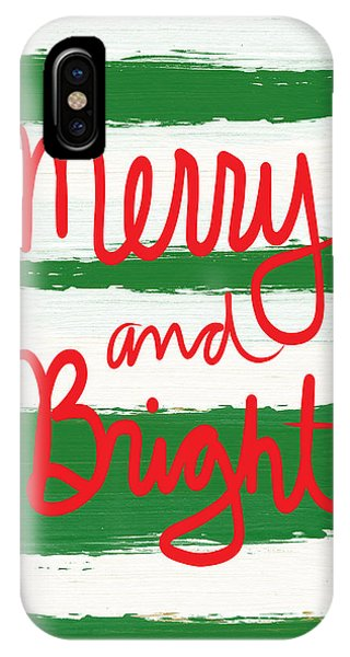 Holidays iPhone Case - Merry And Bright- Greeting Card by Linda Woods