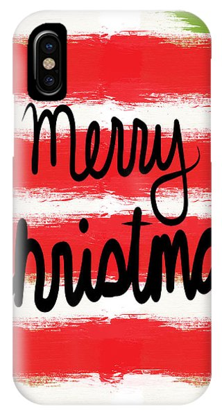 Holidays iPhone Case - Merry Christmas- Greeting Card by Linda Woods