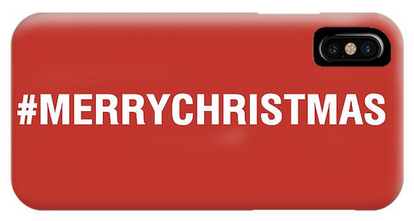Holidays iPhone Case - Merry Christmas Hashtag by Linda Woods