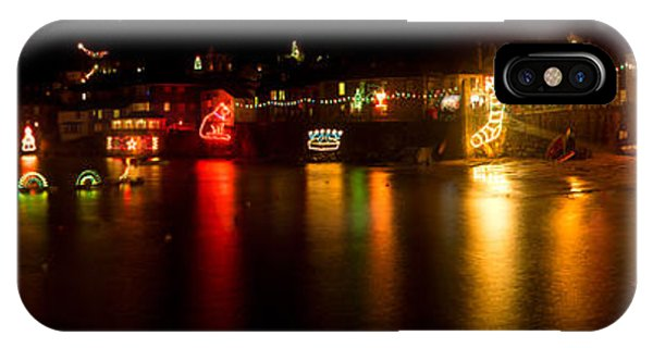 Merry Christmas Mousehole Lights IPhone Case