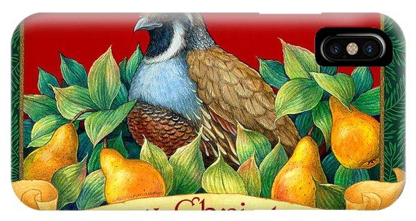 Merry Christmas Partridge IPhone Case