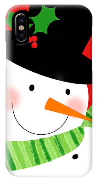 Merry Snowman IPhone Case
