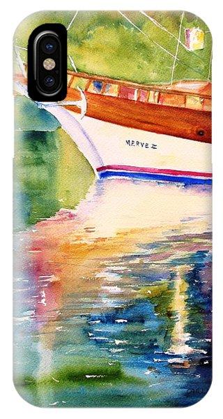 Merve II Gulet Yacht Reflections IPhone Case