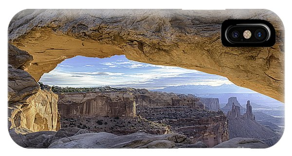 IPhone Case featuring the photograph Mesa Arch Canyonlands by Bitter Buffalo Photography