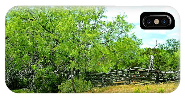 Mesquite Tree And Cedar Post Fence IPhone Case