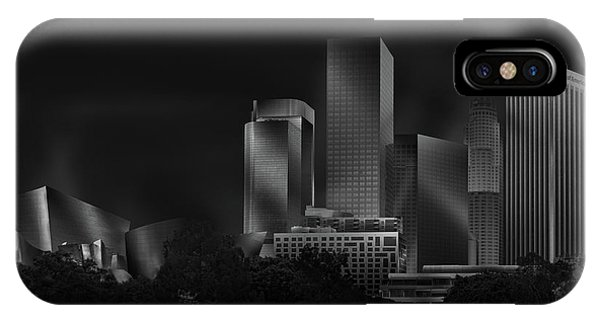Downtown iPhone Case - Metal Downtown L.a. by Jose Antonio Parejo