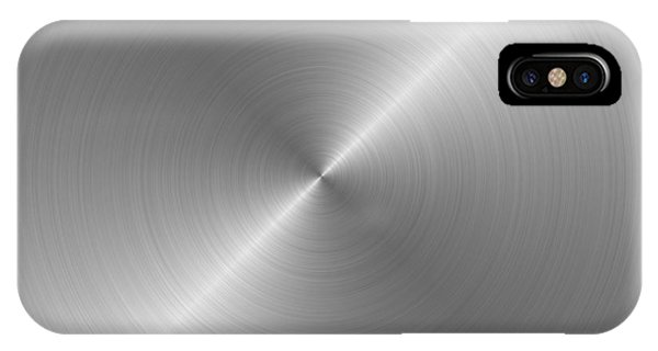 Metal Rough Circular Brushed Steel Aluminum Texture 1 Phone Case by REDlightIMAGE