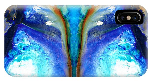 Moth iPhone Case - Metamorphosis - Abstract Art By Sharon Cummings by Sharon Cummings