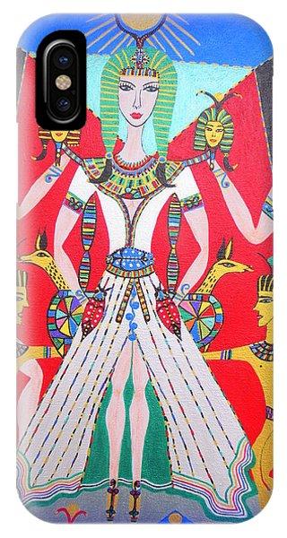 Metamorphosis Of Melisa Into Nefertiti IPhone Case