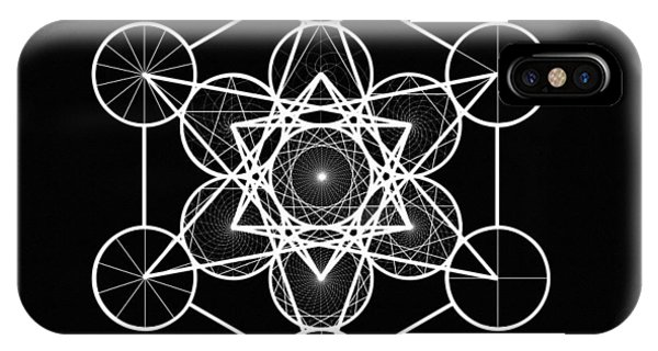 Metatron Wheel Cube IPhone Case