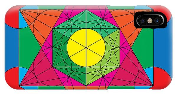 Metatron's Cube In Colors IPhone Case