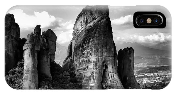 Meteora Greece Strange Rock Formation IPhone Case