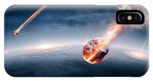 Smoke Fantasy iPhone Case - Meteorites On Their Way To Earth by Johan Swanepoel