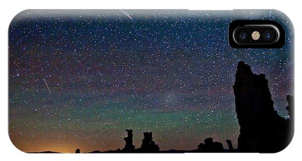 Meteors Over Mono Lake IPhone Case