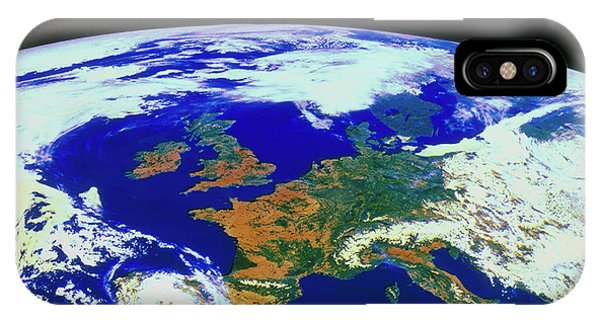 Meteosat Image Of Europe Phone Case by Esa/kevin A Horgan/science Photo Library