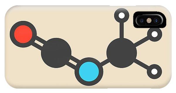 Methyl Isocyanate Toxic Molecule Phone Case by Molekuul