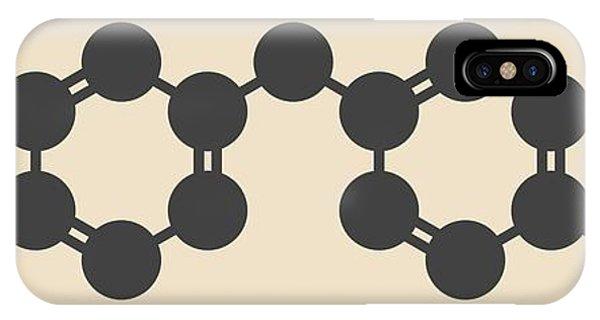Repeat iPhone Case - Methylene Diphenyl Diisocyanate Molecule by Molekuul