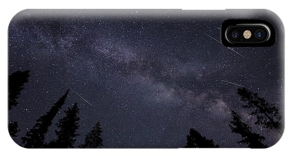 Meteors And The Milky Way IPhone Case
