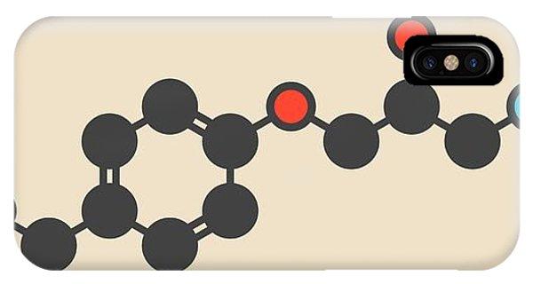 Metoprolol High Pressure Drug Molecule Phone Case by Molekuul