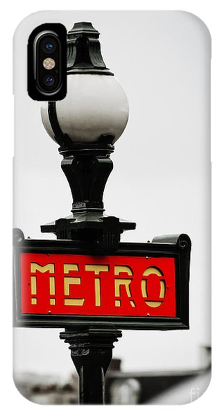 Metro Sign In Paris IPhone Case