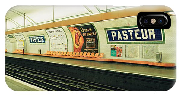 Paris Metro iPhone Case - Metro Station, Paris, France by Panoramic Images