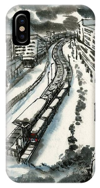 Metro Train At Central Wester-end IPhone Case