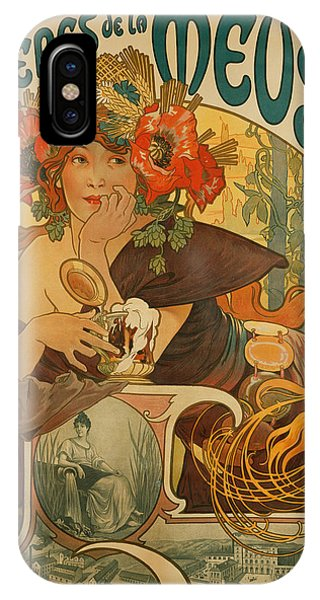 Pub iPhone Case - Meuse Beer by Alphonse Marie Mucha