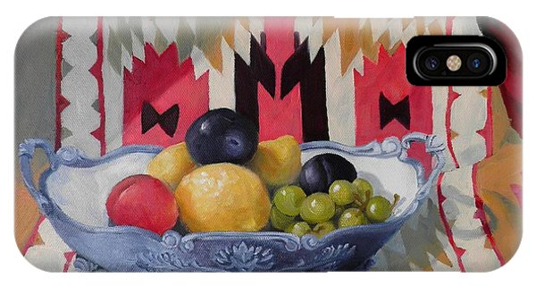 Mexican Blanket With Fruit Bowl IPhone Case