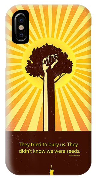Seeds iPhone Case - Mexican Proverb Minimalist Poster by Sassan Filsoof
