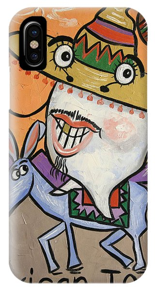 IPhone Case featuring the painting Mexican Tooth by Anthony Falbo