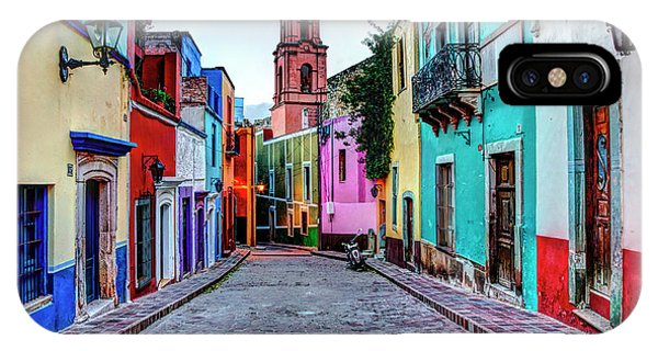Guanajuato iPhone Case - Mexico, Guanajuato, Colorful Back Alley by Terry Eggers
