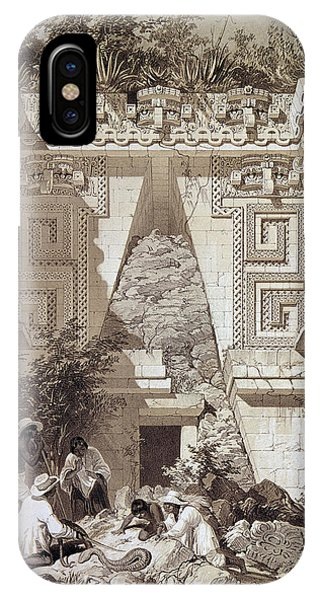 Gateway Arch iPhone Case - Mexico Uxmal Ruins, C1844 by Granger
