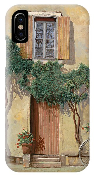 Bicycle iPhone X Case - Mezza Bicicletta Sul Muro by Guido Borelli