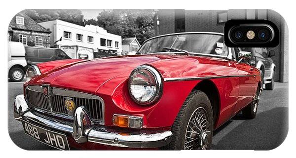 Mgb Gt In Red IPhone Case