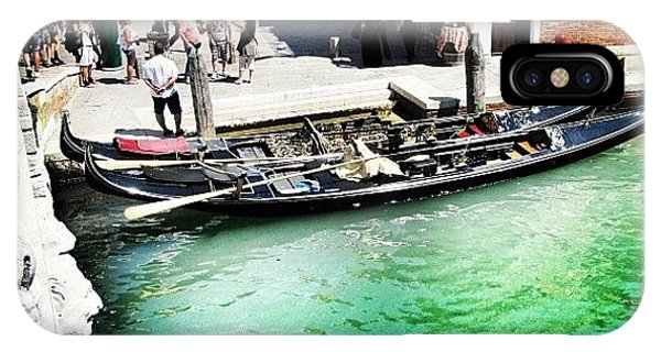 Picoftheday iPhone Case - #mgmarts #venice #italy #europe #canal by Marianna Mills