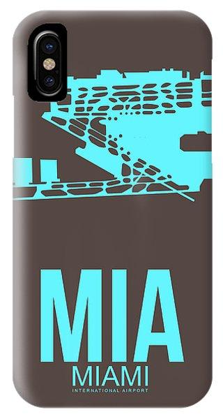 Miami iPhone Case - Mia Miami Airport Poster 2 by Naxart Studio