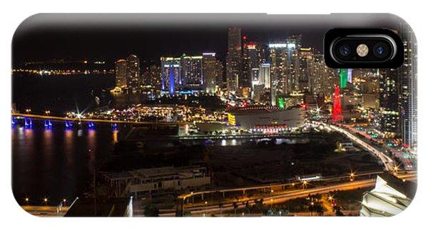 Miami After Dark II Skyline  IPhone Case