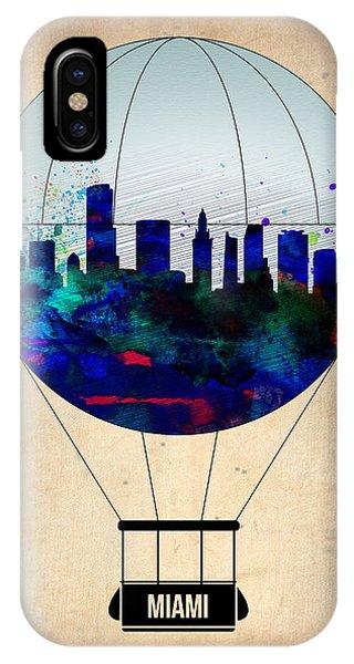 Florida iPhone Case - Miami Air Balloon by Naxart Studio