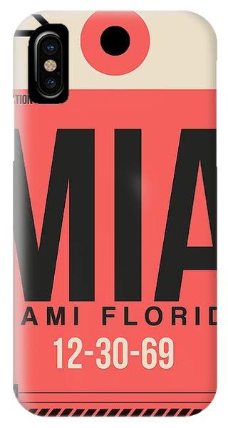 Miami iPhone Case - Miami Airport Poster 3 by Naxart Studio