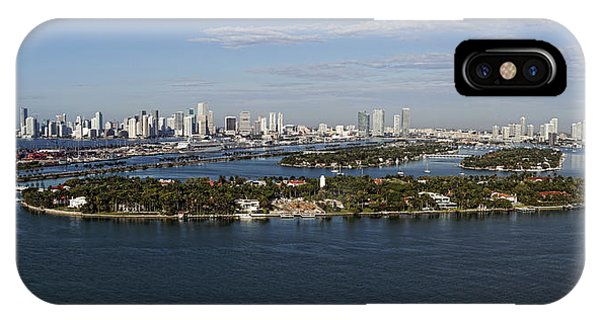 Miami And Star Island Skyline IPhone Case