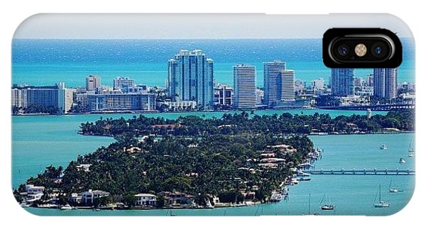 Iger iPhone Case - Miami Beach & Biscayne Bay by Joel Lopez
