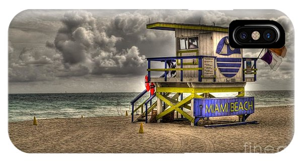 Miami Beach Lifeguard Stand IPhone Case
