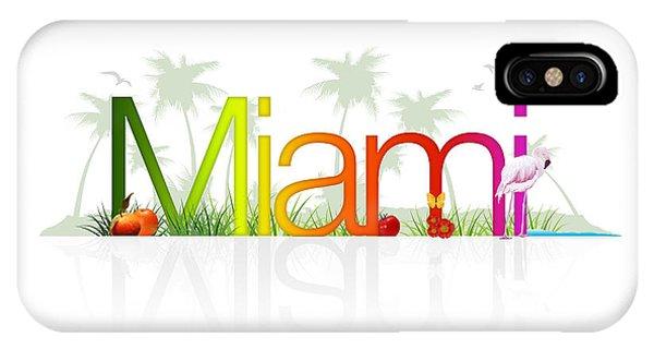 Miami- Florida IPhone Case