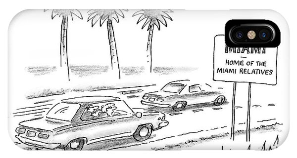 Highway iPhone Case - Miami:  Home Of The Miami Relatives by Frank Cotham